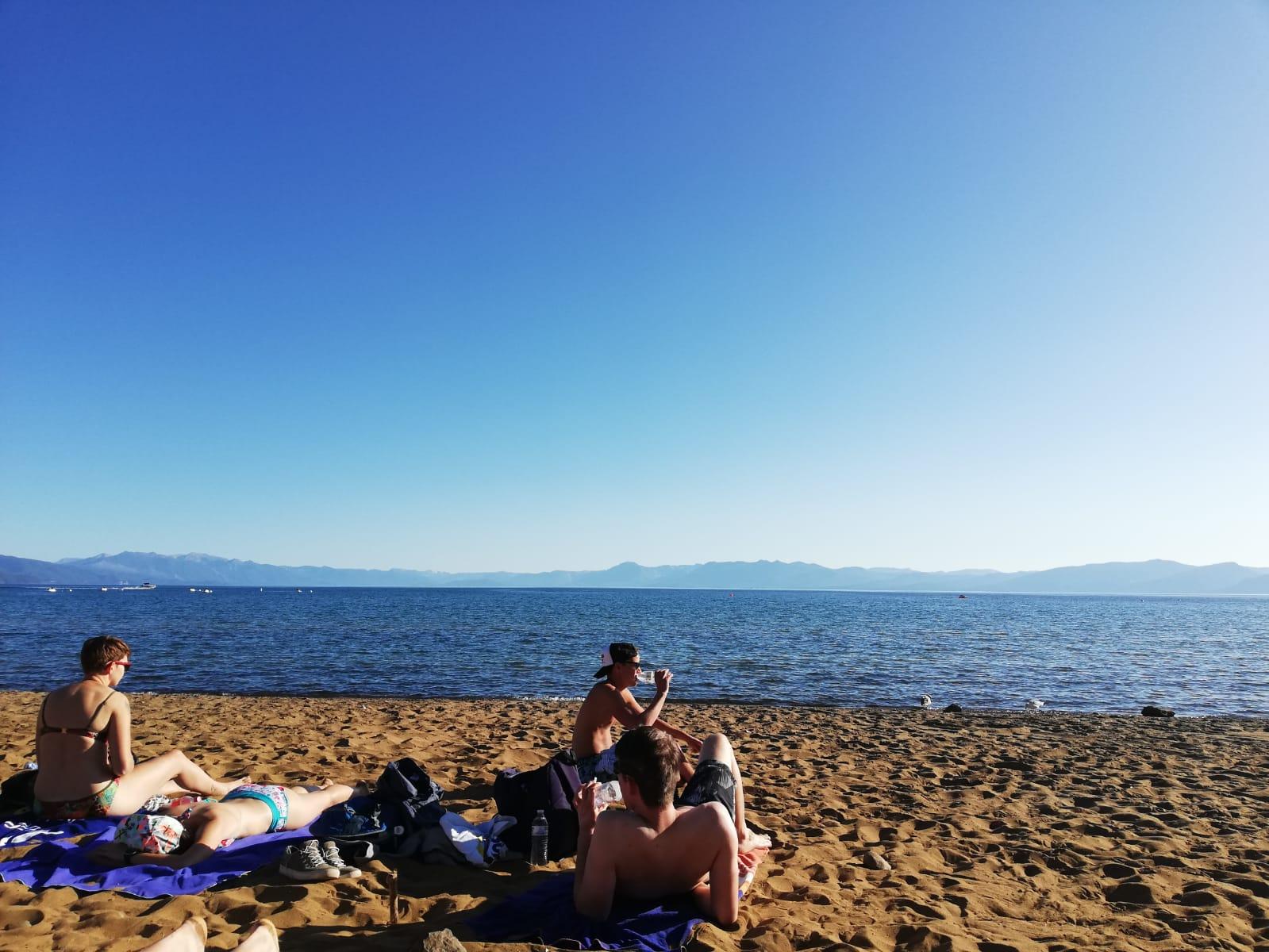 Chillen bij Lake Tahoe