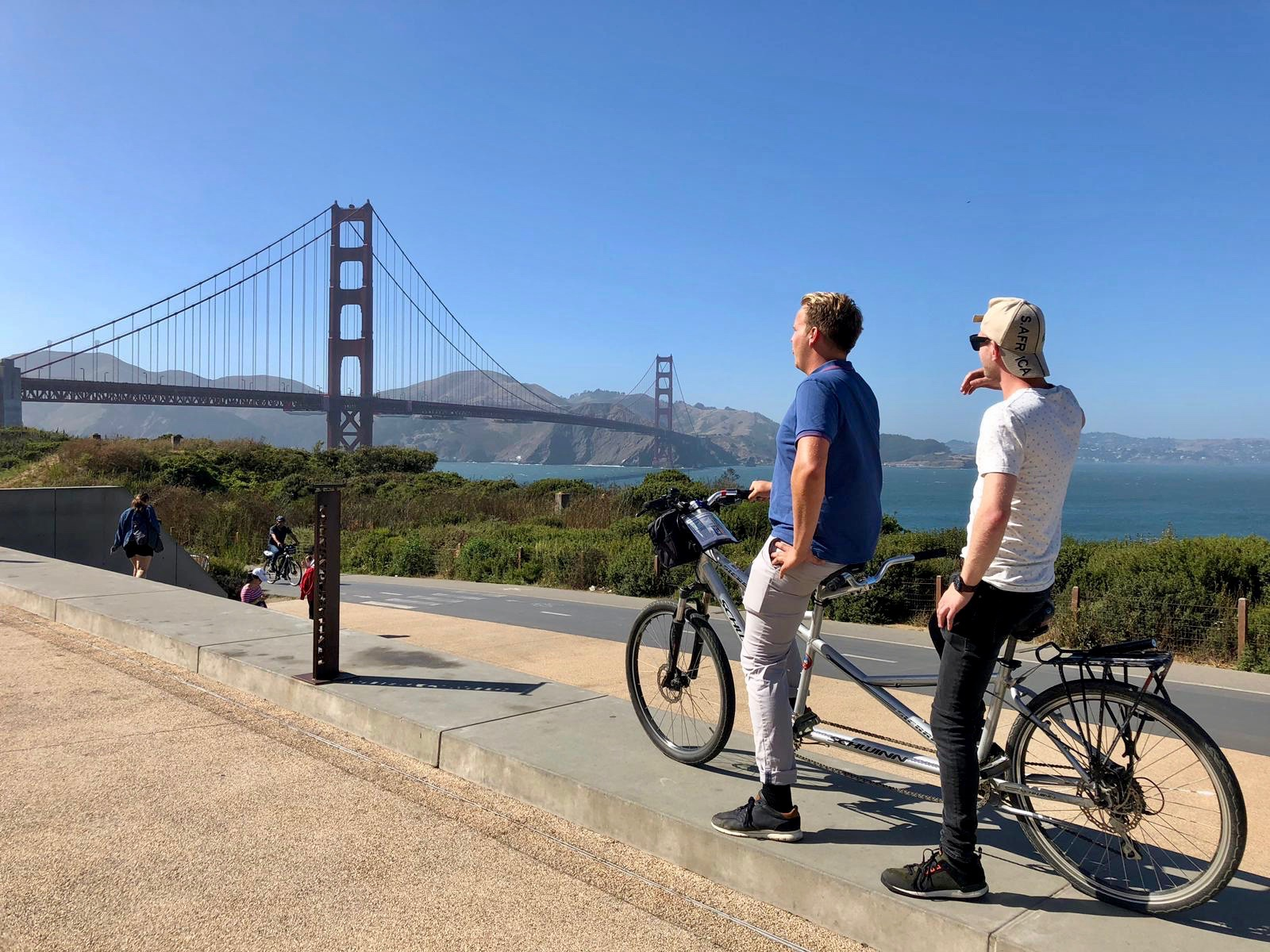Fietsen over Golden Gate Bridge