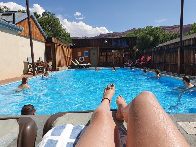 Zwembad bij accommodatie