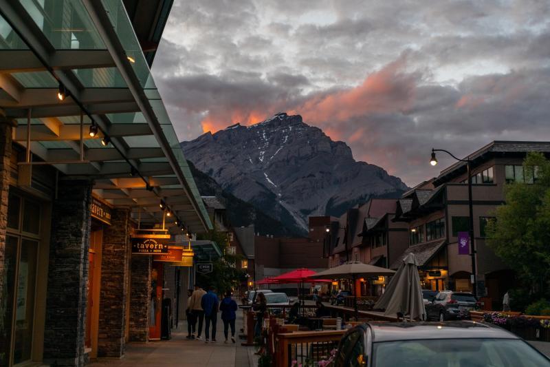 Avond in Banff