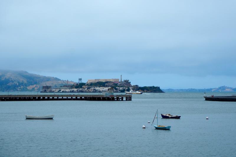 Gevangenis-eiland Alcatraz in zicht