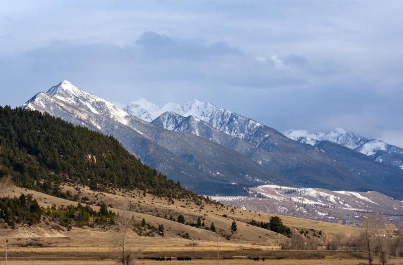 Paradise Valley nabij Bozeman, Montana