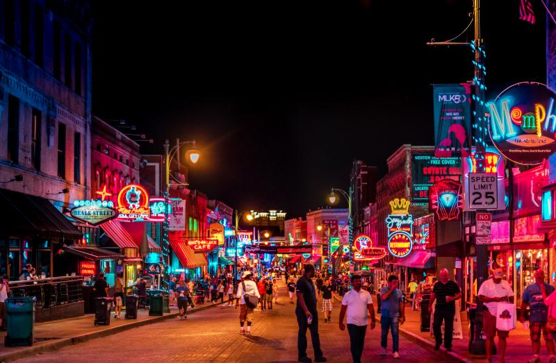 Road trip zuiden Amerika - Beale Street, Memphis