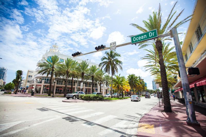 Road trip zuiden Amerika - Ocean Drive Miami